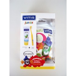 Pack Vitis Junior Cepillo + Gel 75ml + Muñeco