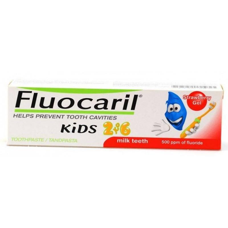 Fluocaril Kids pasta de dientes infantil fresa 2-6 años 50 ml