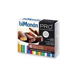 Bimanan Pro Barritas Chocolate 6 unidades
