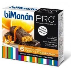 Bimanan PRO Barritas de chocolate-naranja 6 unidades