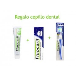 Fluocaril pasta de dientes Pack día 125 ml y noche 125 ml + Regalo cepillo