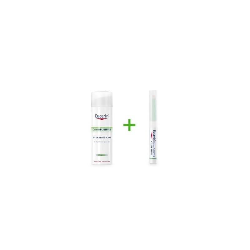 Eucerin Dermopuriyer cuidado hidratante 50 ml + Dermopurifiyer stick 2