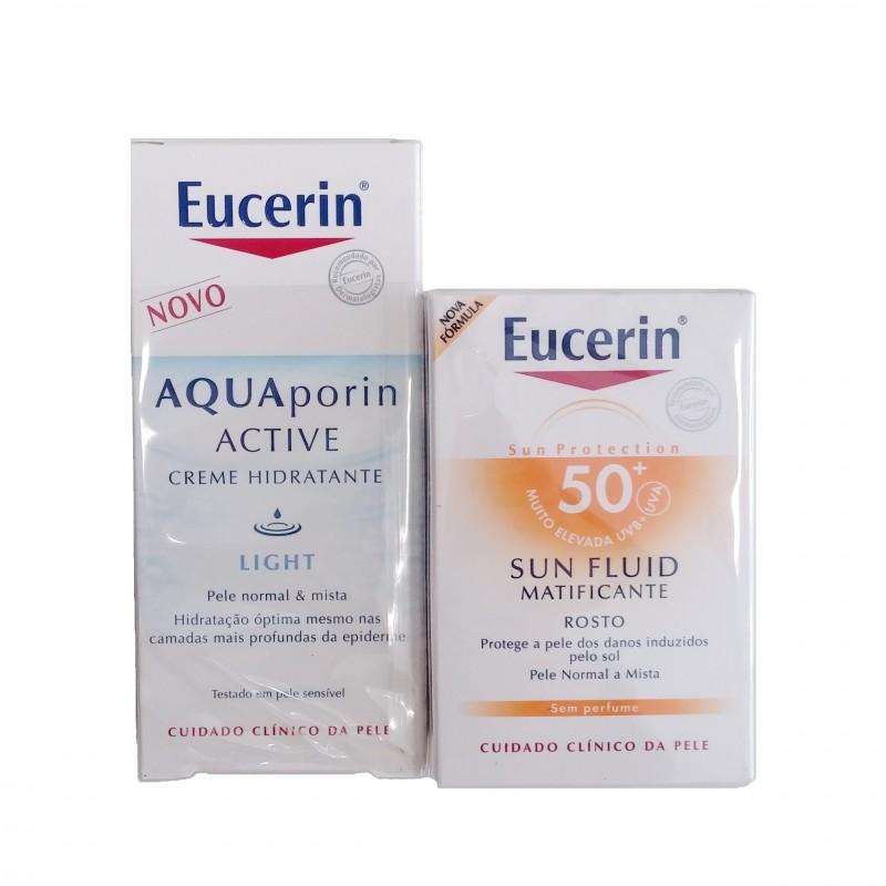Eucerin fluido facial SPF 50+ 50 ml + regalo Aquaporin light