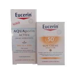 Eucerin Crema solar coloreada SPF50+ 50 ml + regalo Aquaporin Active SPF15