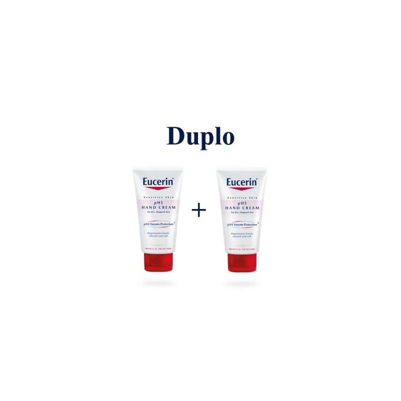 Eucerin pH5 crema de manos duplo 2x75 ml