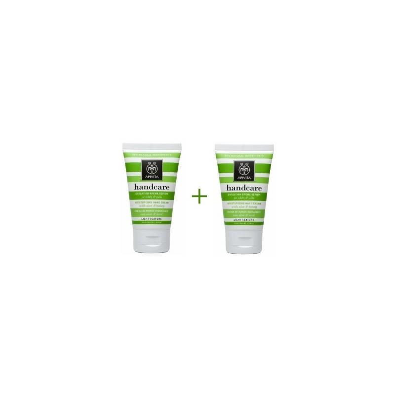 Apivita Handcare crema de manos hidratante con aloe y miel duplo 2x50 ml