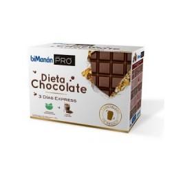 Bimanan PRO dieta chocolate 3 días Express Incluye: 6 barritas+3 cremas+3 batidos+ 3 mousses+Regalo coctelera