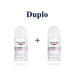 Eucerin desodorante piel sensible roll-on 24 horas duplo 2x50 ml