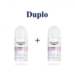 Eucerin desodorante piel sensible roll-on 24 horas duplo 2x50 ml