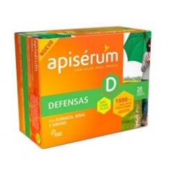 Apiserum D defensas jalea real 1500 mg 20 viales