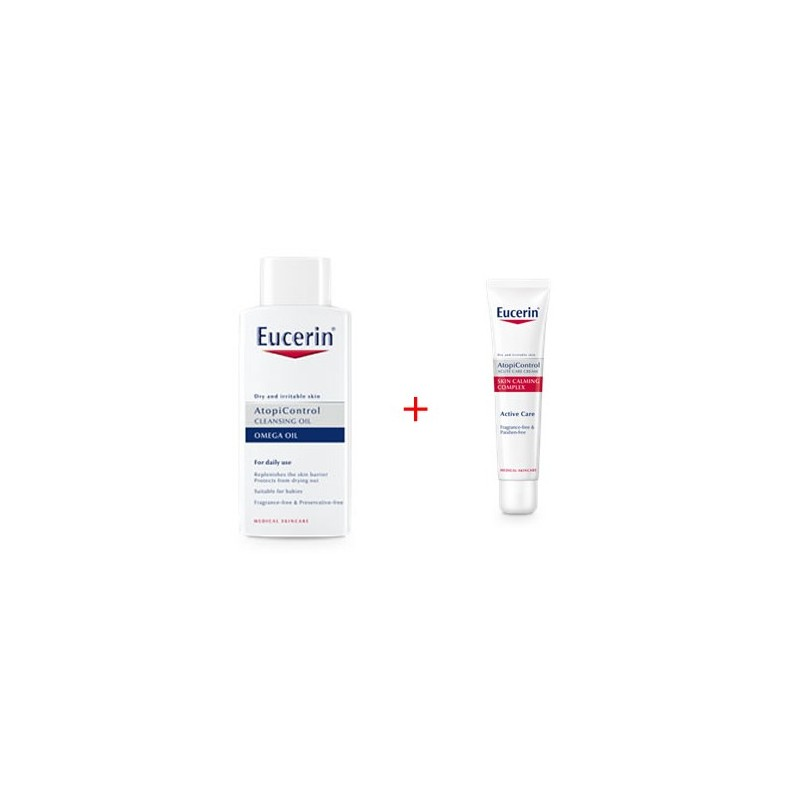 Eucerin AtopiControl Oleogel de baño 400 ml + regalo ApiControl crema forte 40 ml