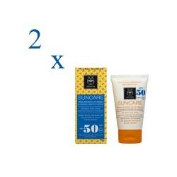 Apivita Suncare pack solar facial Spot antimanchas SPF50 + 2ª unidad a mitad de precio