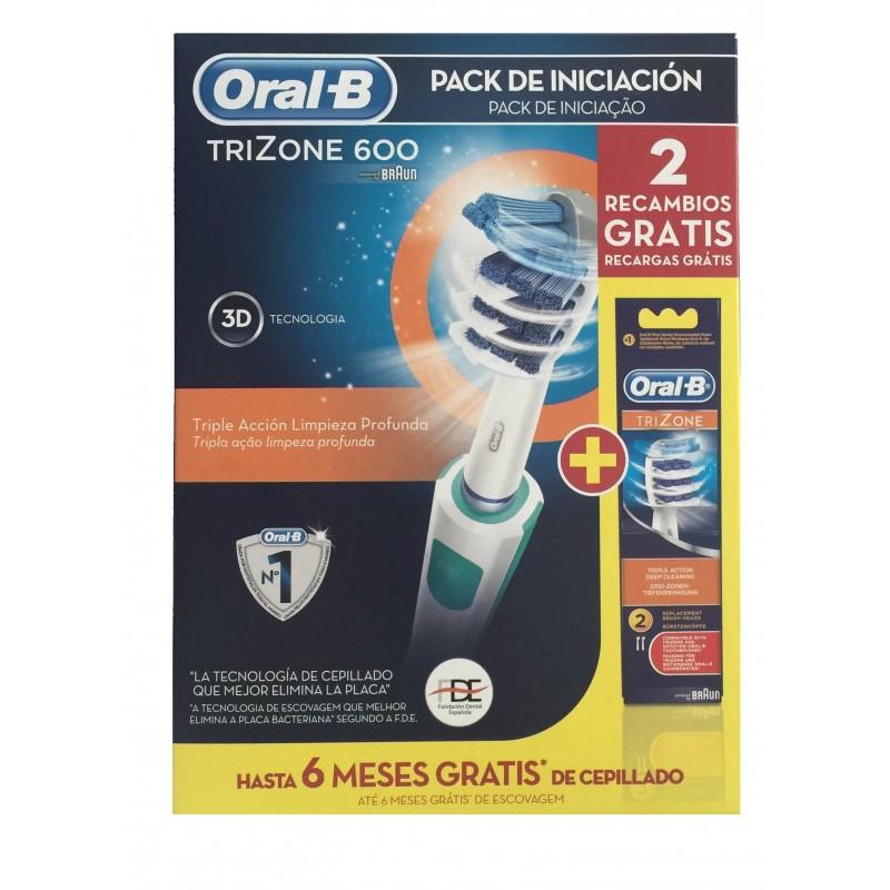 Oral B Trizone 600 pack cepillo de dientes + 2 recambios