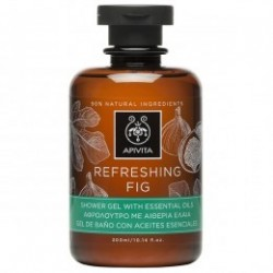 Apivita Refreshing Fig gel de ducha y baño 300 ml