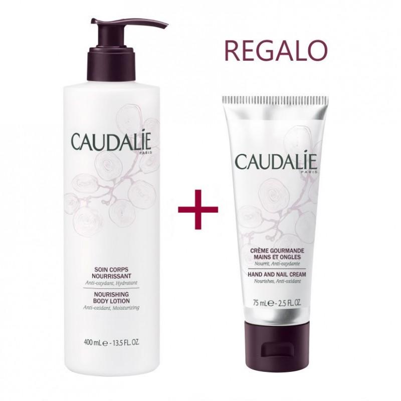 Caudalie pack hidratante Tratamiento corporal nutritivo 250 ml + regalo crema de manos deliciosa 75 ml