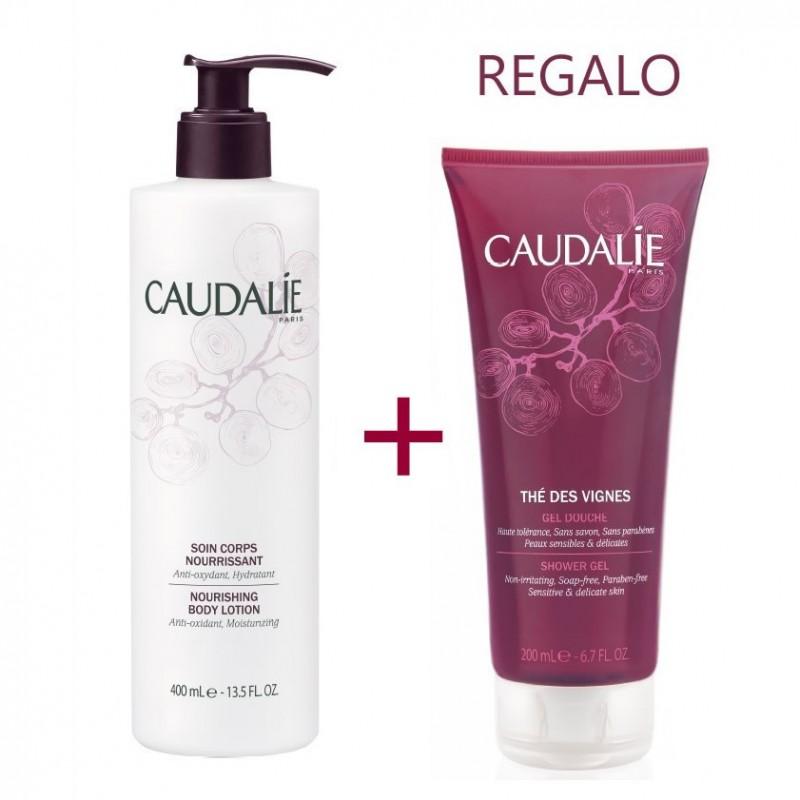 Caudalie pack corporal Tratamiento hidratante corporal 250 ml + regalo gel de baño 200 ml