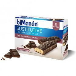 Bimanan barritas de chocolate negro y blanco 8 unidades
