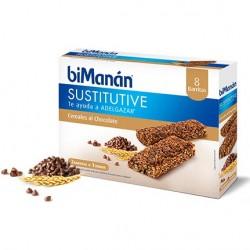 Bimanan barritas de cereales y cacao con chips choco 8 unidades