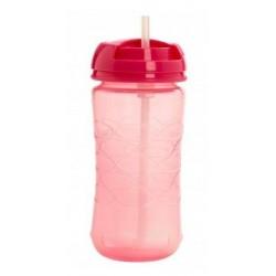Dr. Brown´s vaso con pajita rosa de silicona 355 ml
