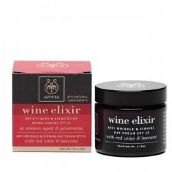 Apivita Wine Elixir crema de día anti-arrugas y reafirmante SPF 15 con vino tinto y cera de abeja 50 ml