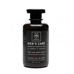 Apivita Champú  Gel de baño para cabello y cuerpo con cardamomo y propóleo 250 ml