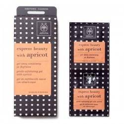 Apivita Express Beauty gel de exfoliación suave con albaricoque 2 x 8 ml