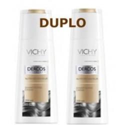 Vichy Dercos champú nutri-reparador cabellos secos duplo 2x200 ml
