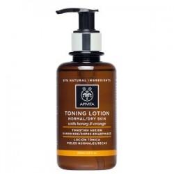 Apivita loción tónica para piel normal/seca con miel y naranja 200 ml