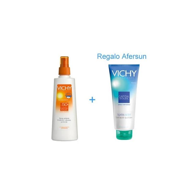 Vichy Capital Soleil SPF50+ niños spray 200 ml + regalo aftersun 100 ml