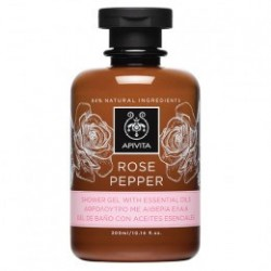 Apivita Rose Pepper gel de baño y ducha 300 ml
