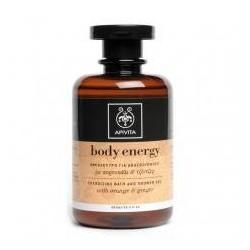 Apivita Body Energy gel baño y ducha con Naranja y Jengibre 300 ml
