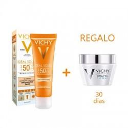 Vichy Ideal Soleil protector facial antimanchas 3 en 1 SPF50+ 50 ml + regalo liftactiv N/M 2x15 ml