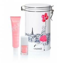 Caudalíe caja metal Torre Eiffel Vinosourve Crema sorbente 40 ml + Regalo pinta uñas