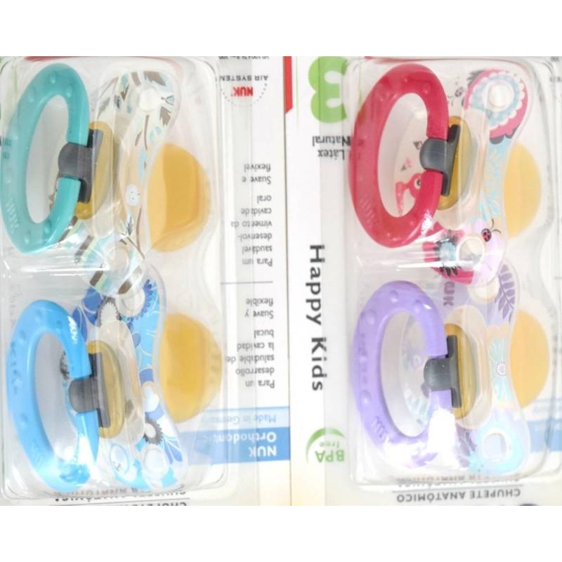 colores surtidos Nuk Chupete anat/ómico,de 6-18 meses,l/átex