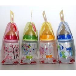 Nuk Biberón de plástico colorines 0-6 meses 150 ml 1 unidad