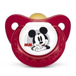 Nukete T1 de Látex Disney Mickey chupete Nuk +6 meses
