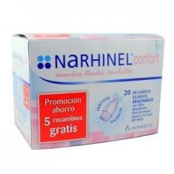 Narhinel Confort recambios 20 unidades (15 + 5 de regalo)