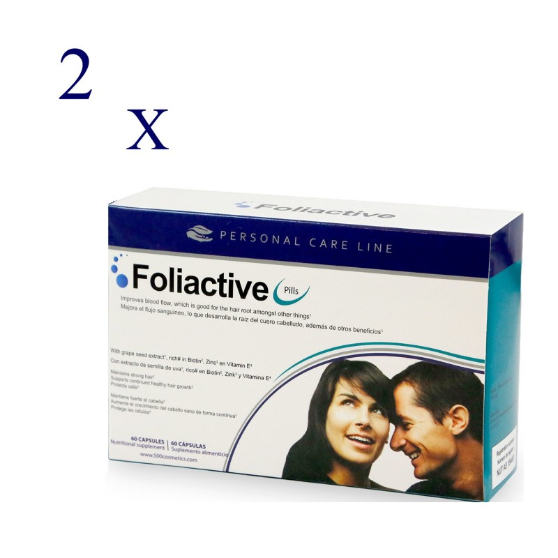 500 Cosmetics Foliactive Pills duplo 2x60 cápsulas