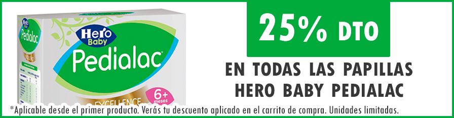 25% dto en papillas Hero Baby Pedialac