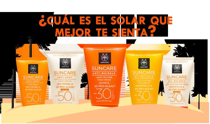 Protectores Solares para todo tipo de pieles